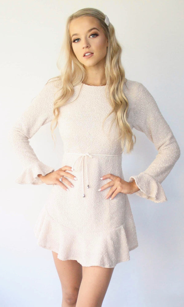 Vivienne // Fitted Mini Knit Dress