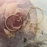 Fierté // Gold Cross Hoops Earrings