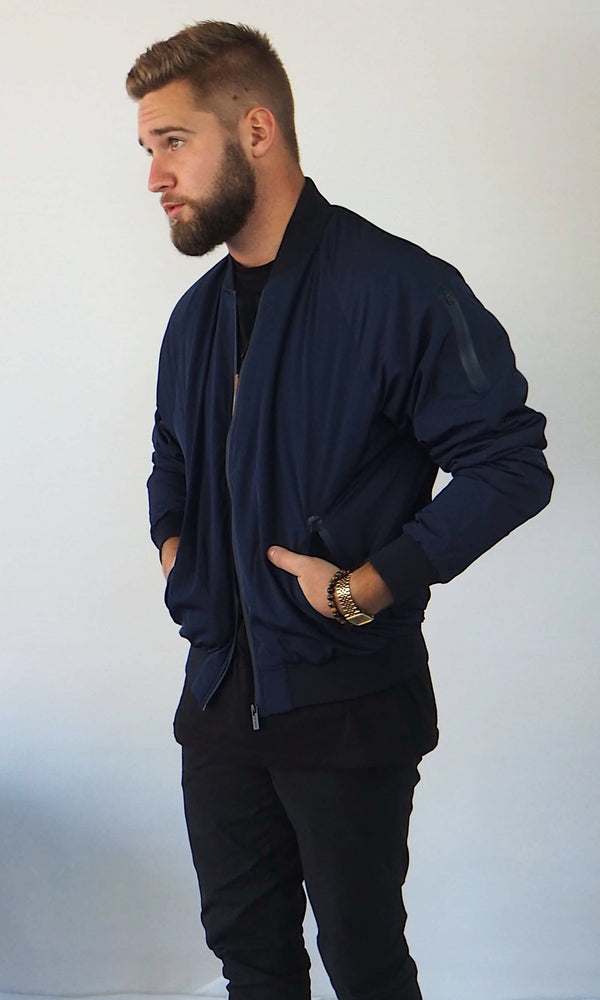 Insulated Bomber Jacket // Navy