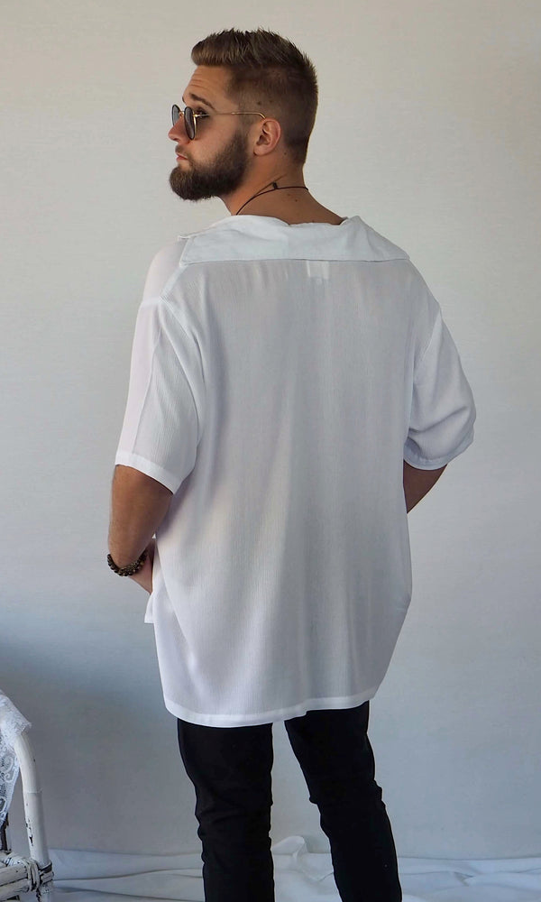 PRE- ORDER The Huntington Oversized Shirt // White