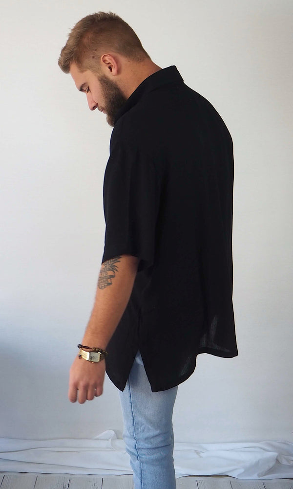 The Huntington Oversized Shirt // Black