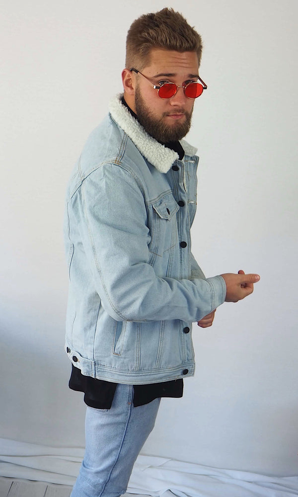 Chester Drop Sherpa Jacket - BLUE (PRE-ORDER)