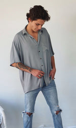 The Huntington Oversized Shirt - Grey