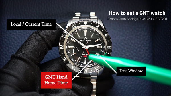 How to set a GMT watch and track up to 3 time zones