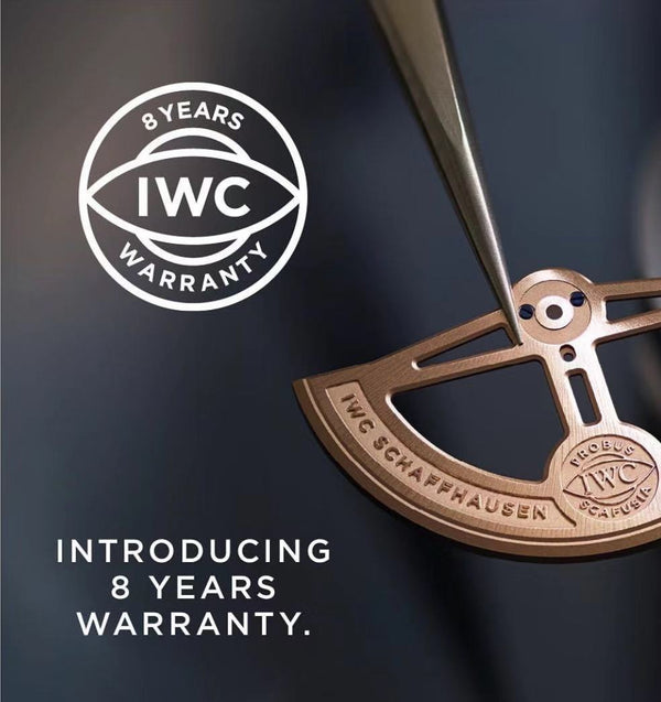 IWC extends all watch warranty up to 8 years!