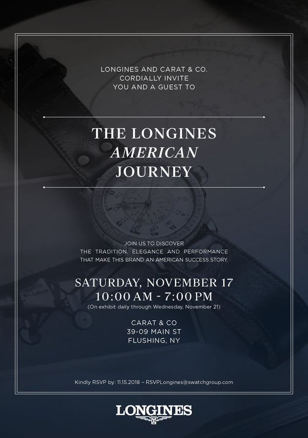 The Longines American Journey at Carat & Co.