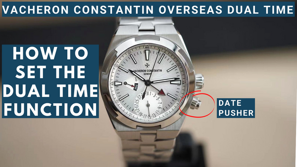 How to set the Vacheron Constantin Overseas Dual Time 5110DT