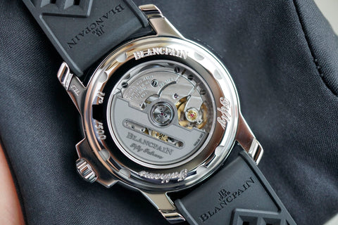 Blancpain Fifty Fathoms Barakuda 5008B 1130 B52A Carat & Co. Authorized Retailer caseback