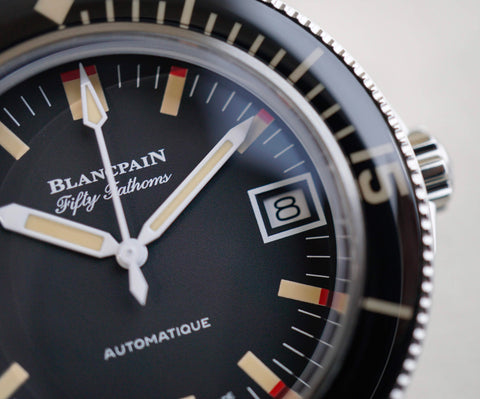 Blancpain Fifty Fathoms Barakuda 5008B 1130 B52A bezel Carat & Co. Authorized Retailer