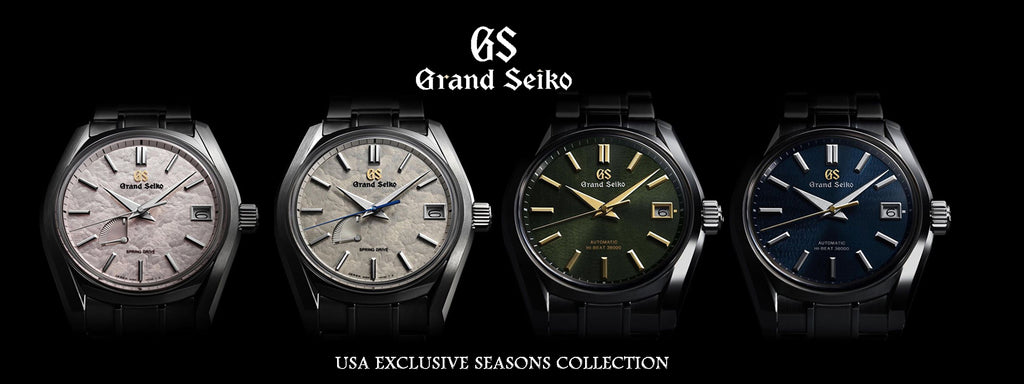 Grand Seiko USA Exclusive Four Seasons Collection - Spring Drive Models: SBGA413 Spring Blossom & SBGA415 / Hi-Beat Models: SBGH271 Summer & SBGH273 Fall 62GS Case $6,300 Carat & Co. Authorized Retailer