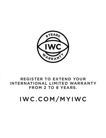 IWC 8 Years Warranty Extension Instructions Carat & Co. Authorized Retailer