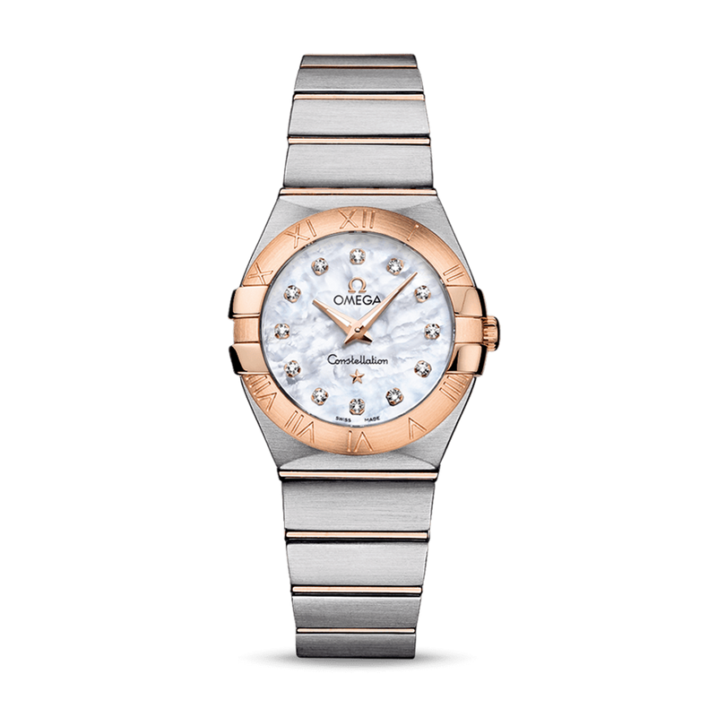 Omega Constellation Quartz Diamonds Mother of Pearl 27 mm