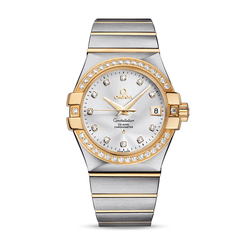 Omega Constellation Co-Axial Date Diamonds 35 mm