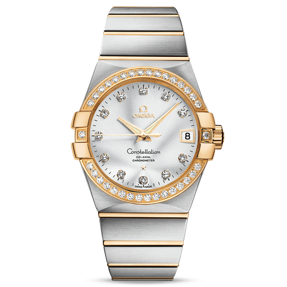 Omega Constellation Co-Axial Date Diamonds 38 mm