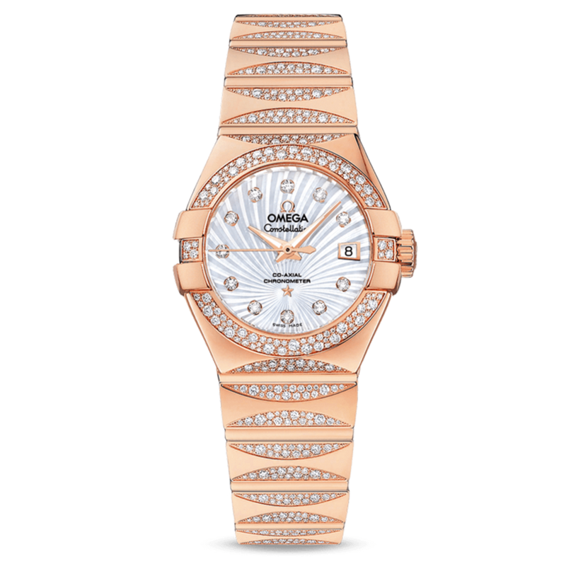 Omega Constellation Co-Axial 27 mm Diamonds