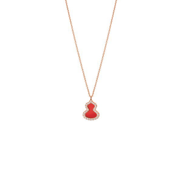Petite Wulu Necklace Red Agate