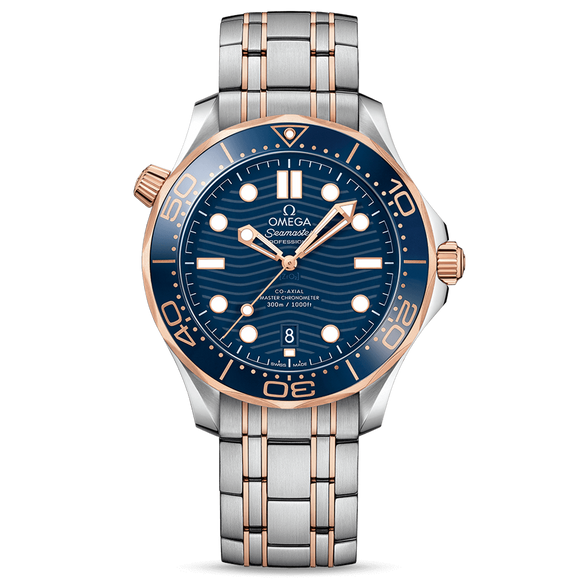 Omega Diver 300M Co-Axial Master Chronometer 42 mm Sedna Gold & Steel