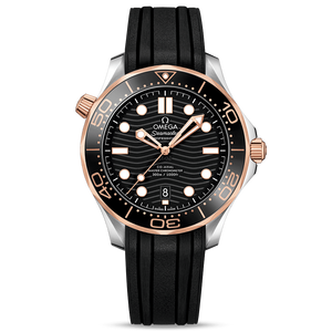 Omega Diver 300M Co-Axial Master Chronometer 42 mm Sedna Gold & Steel Rubber Strap