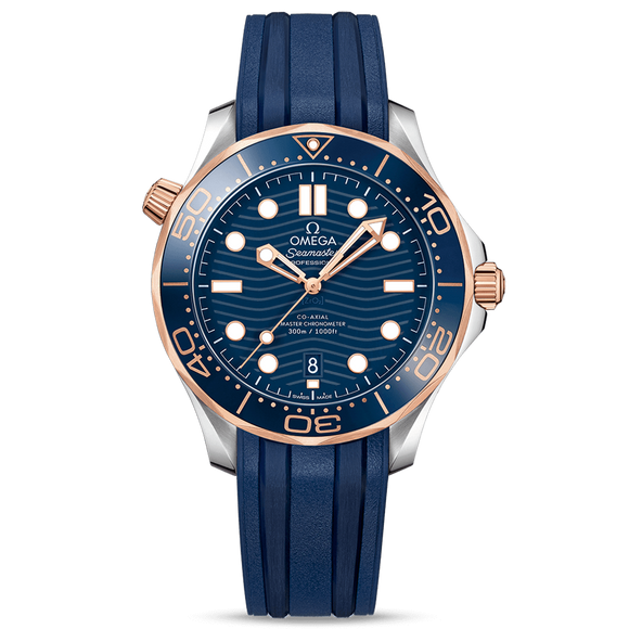 Omega Diver 300M Co-Axial Master Chronometer 42 mm Sedna Gold & Steel Rubber