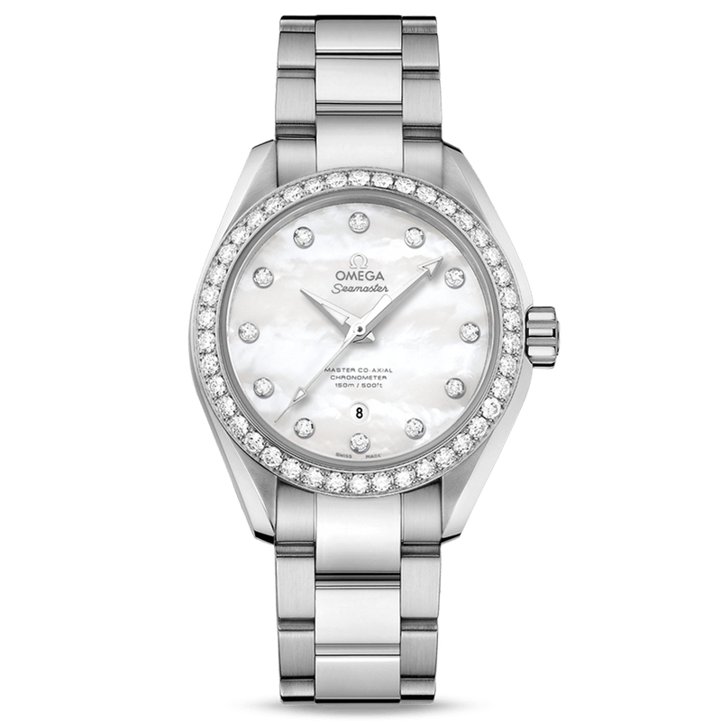 Omega Seamaster Aqua Terra Ladies Diamonds 34mm