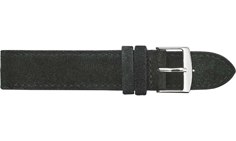 Butter Soft Stitched Suede - Black Watch Strap