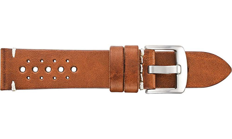 Vintage Racing Leather Tan Watch Strap