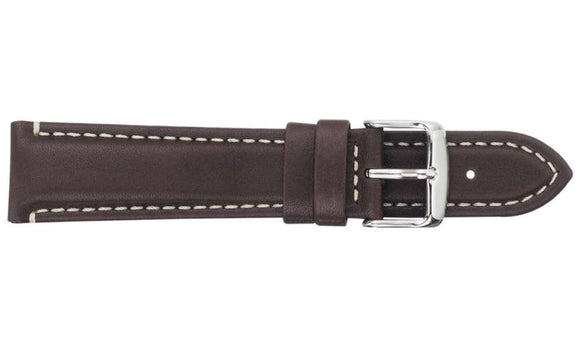 Waterproof Sports Leather Brown Watch Strap