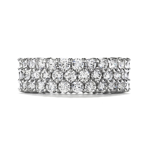 Hearts on Fire Triple-Row Eternity Band