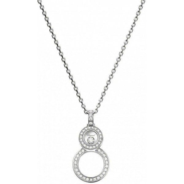 Happy 8 White Gold Diamond Pendant