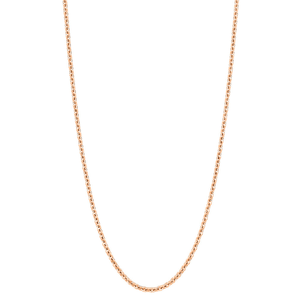 "18"" necklace in 18K rose gold"