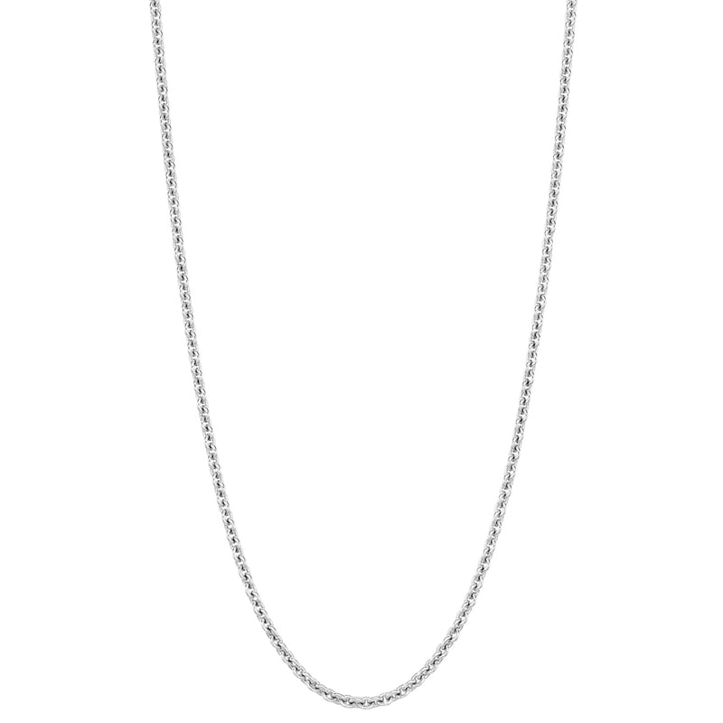 "18"" necklace in 18K white gold"