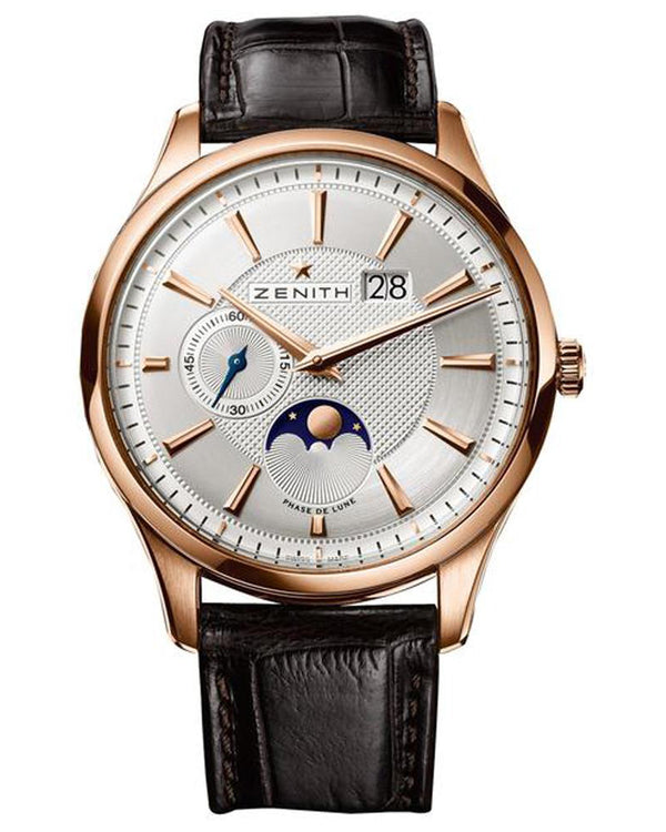 Captain Moonphase Silver Dial Gent's Gold Watch