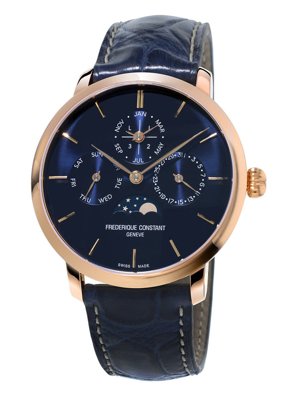 Frederique Constant Slimline Perpetual Calendar Manufacture 42mm FC-775N4S4 Sale Best Price Carat & Co. Authorized Retailer