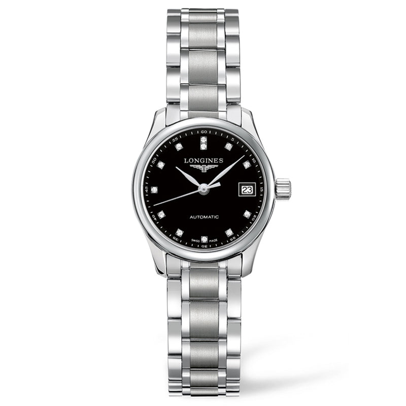 Master Collection 25mm Stainless Steel with Diamonds