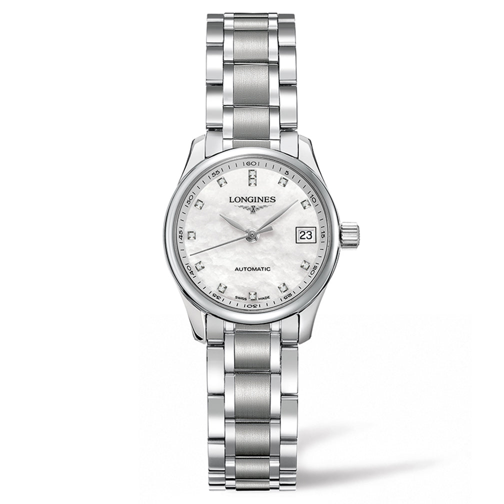 The Longines Master Collection 25mm Stainless Steel with Diamonds