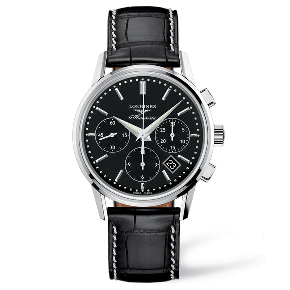 The Longines Column-Wheel Chronograph 40mm Stainless Steel