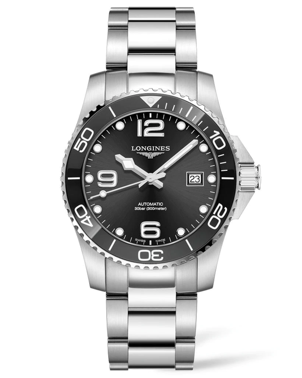 HydroConquest 41mm Stainless Steel & Ceramic Diving Watch