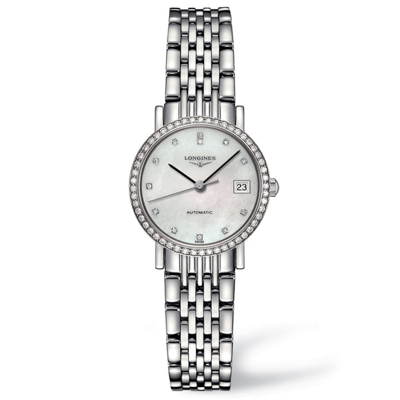 The Longines Elegant Collection 25mm Stainless Steel with Diamonds