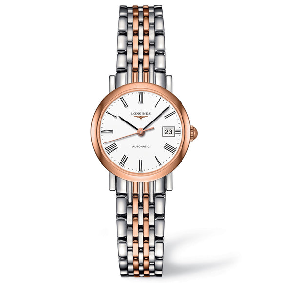 The Longines Elegant Collection 25mm Stainless Steel/Gold Cap 200