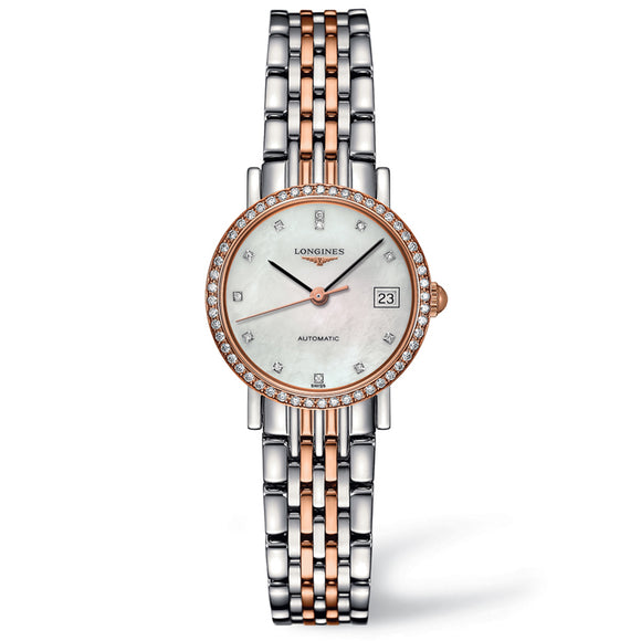 The Longines Elegant Collection 25mm Stainless Steel/Gold 18K with Diamonds