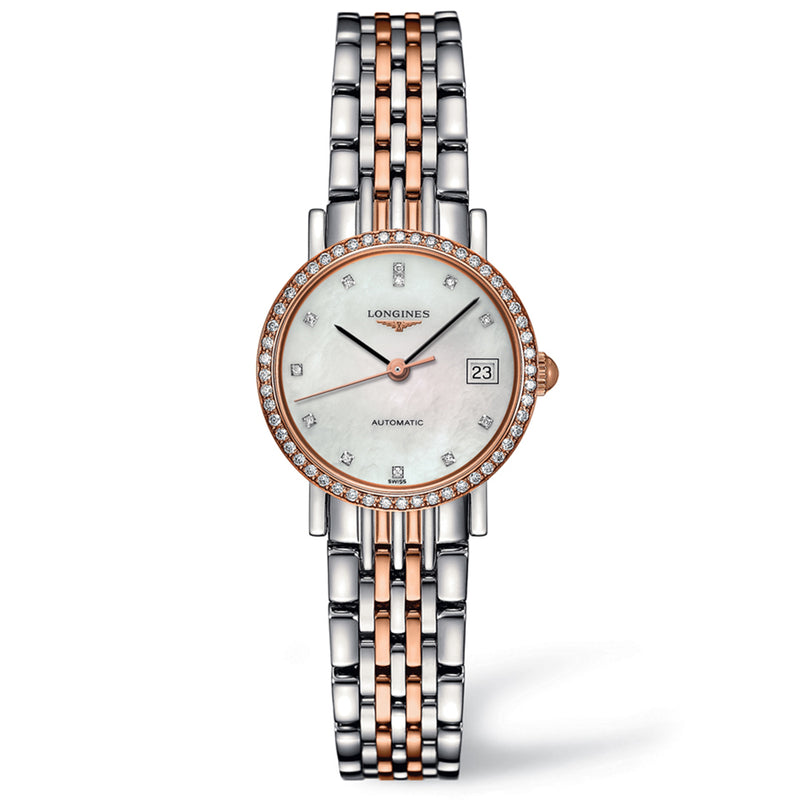 Elegant Collection 25mm Stainless Steel/Gold 18K with Diamonds