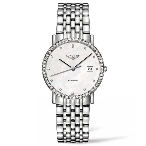 Elegant Collection 34mm Stainless Steel with Diamonds