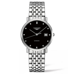 The Longines Elegant Collection 37mm Stainless Steel with Diamonds