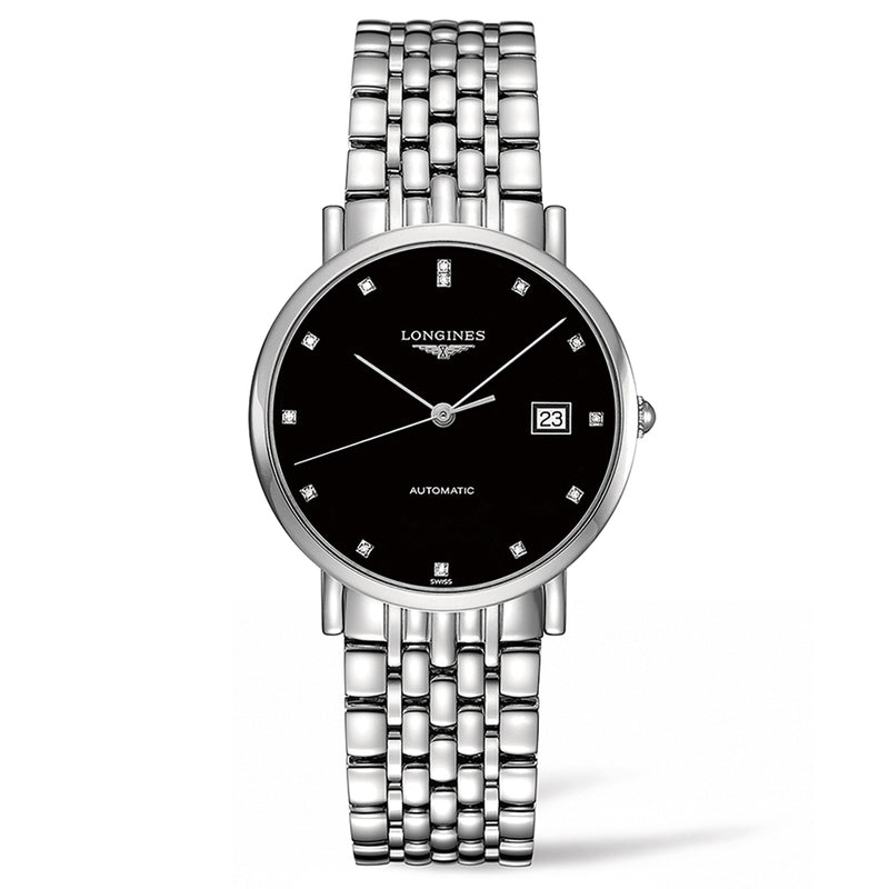Elegant Collection 37mm Stainless Steel with Diamonds