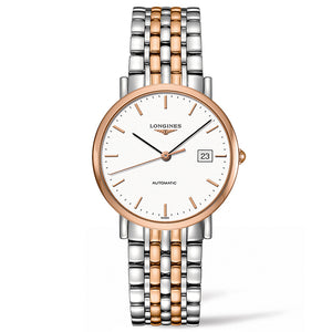 The Longines Elegant Collection 37mm Stainless Steel/Gold Cap 200