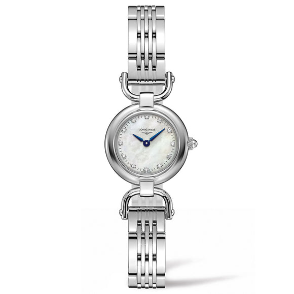 Longines Equestrian Collection Etrier 23mm Stainless Steel with Diamonds