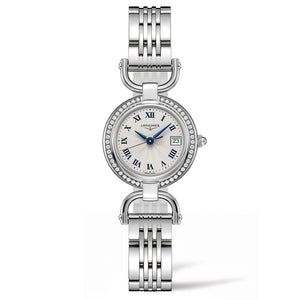 Longines Equestrian Collection Etrier 26mm Stainless Steel with Diamonds