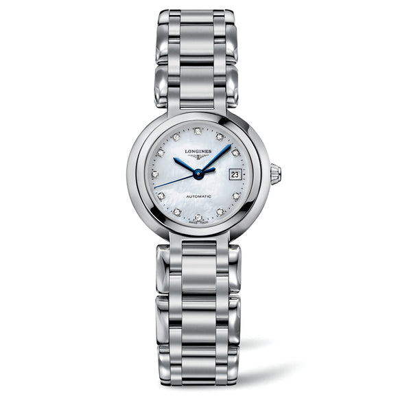 Longines PrimaLuna 26mm Stainless Steel with Diamonds