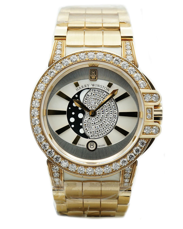 Ocean Lady Moon Phase 36mm Rose Gold Watch