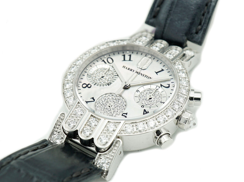 Harry Winston Ladies Premier Excenter Midsize Chrono PREQCH32WW041